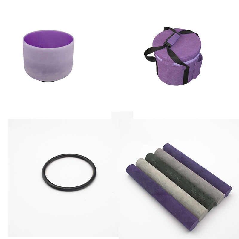 Hf 12 polegadas pintado cantando dentro cor fosco tigela qualquer nota cdefgabc # customizável para yoga com saco