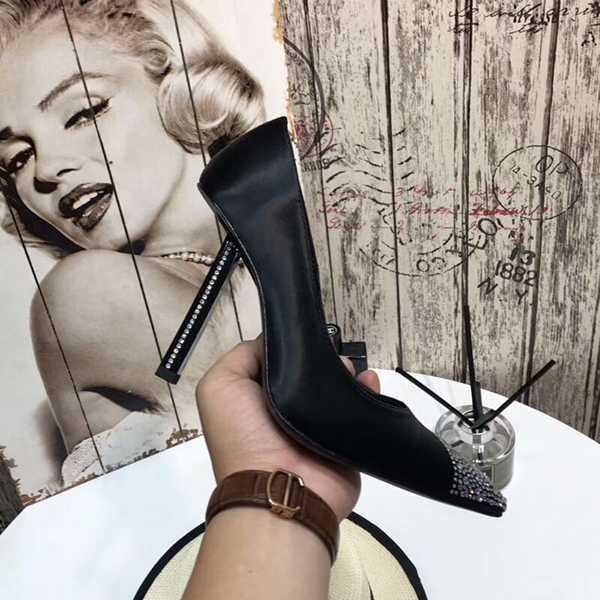 Peau Sexy Mariage Nouveau as Photo En As Strass Talons Hauts Femelle Stiletto Banquet Marque Femmes Photo Luxe Daim De 2019 Simples Chaussures Mouton YF1vxTq7wn