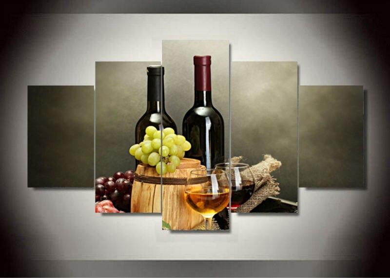 Popular wine framed art buy cheap wine framed art lots for Wine decor for kitchen cheap