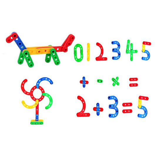 S13450 JingQ Long Strip Shape Plastic Construction DIY Assembling Puzzle Kit Baby Children Kids Educational Toy