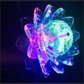 2016 Nova E27 3 W 90 V-260 V LED lotus Luz de Palco Colorido Auto Rotating RGB Bulbo Do Natal Disco Party DJ efeito Lâmpada