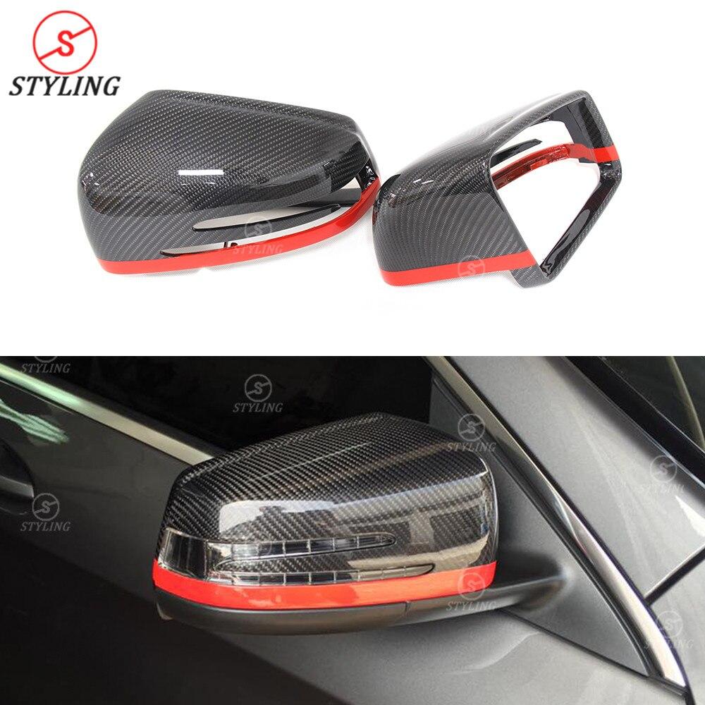W221 W117 Carbon Rear View Mirror Cover For Mercedes W207 W246 W204 W176 W218 W212 2007