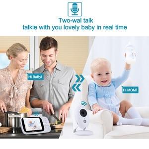 Image 4 - HYASIA 3.5 Draadloze Video Babyfoon Baby Telefoon Camera Bebe Nanny Beveiliging Temperatuur Monitoring LCD Nachtzicht Kindje Camera