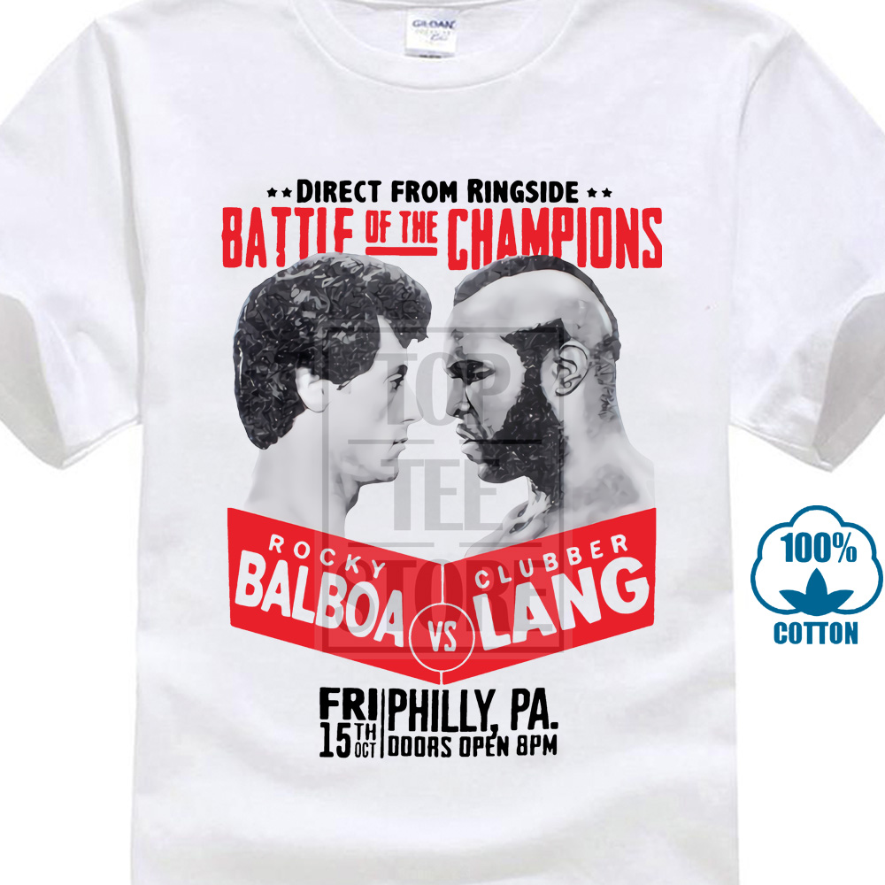 Rocky Balboa Clubber Lang Mens Premium T Shirt Film Rocky Iii Training Boxer Cool Casual Pride T Shirt Men Unisex Fashion