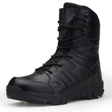 Men Tactical Military Boots Desert Boot Shoes Hiking Shoes Sport Work Ankle Boots Lace Zipper Mountain Climbing Shoes Size 45 46 in Hiking Shoes from Sports Entertainment