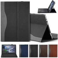 Tablet Laptop Case Cover With Pen Holder For Lenovo Miix 510 (Miix5)/510 12.2 inch PU Leather Skin Protective Sleeve Case