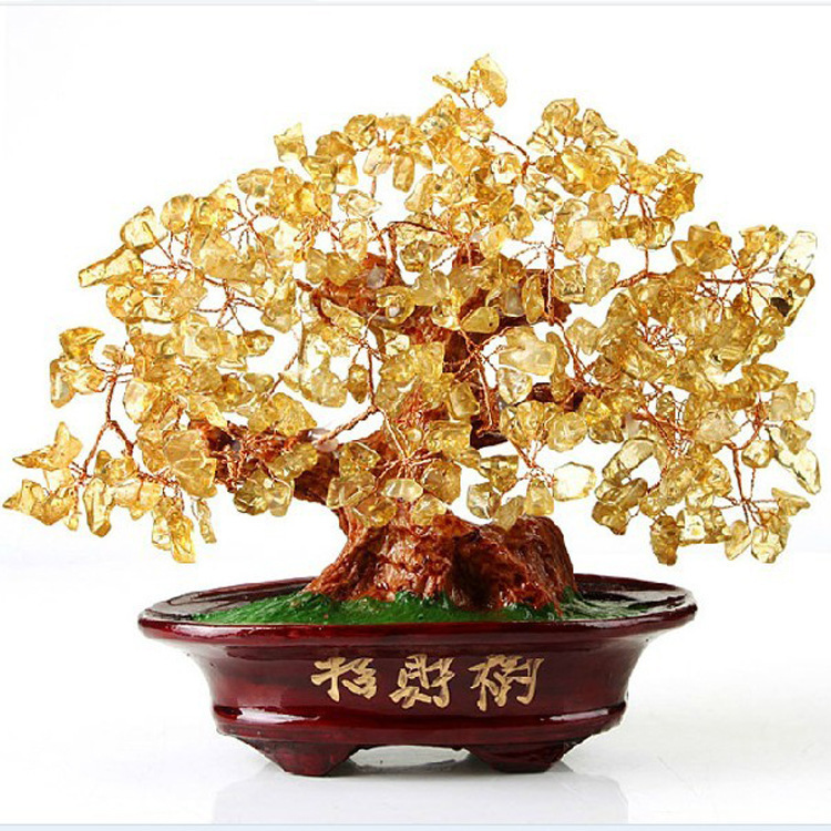 Aliexpresscom  Buy Natural Citrine Lucky Feng Shui tree money
