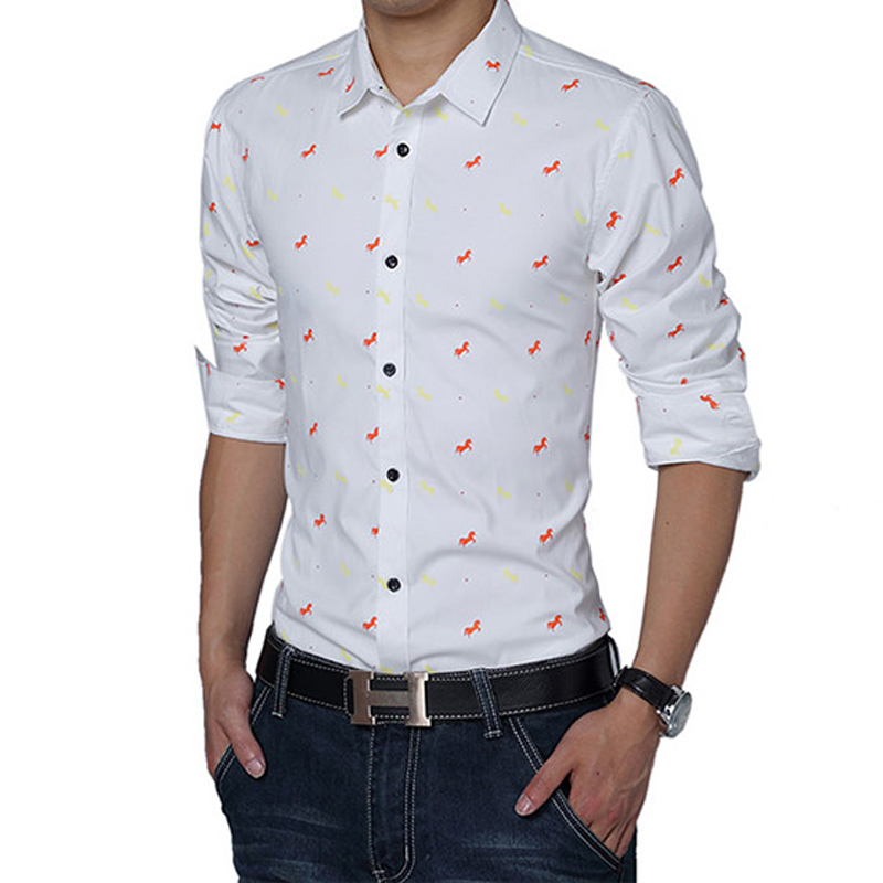 b54931f96864 2017 new spring style men shirt high quality fashion leisure youth pop  single breasted men s long sleeve shirt large size M 5XL-in Casual Shirts  from Men s ...