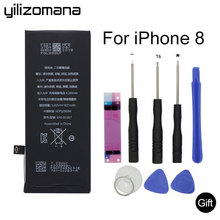 YILIZOMANA Original Mobile Phone Battery for iPhone 8 iPhone8 High Quality 1821mAh replacement Batteries Free Tools