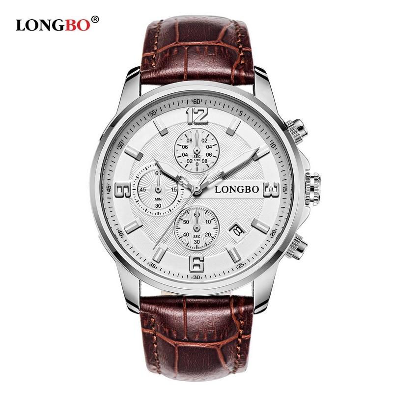 ФОТО LONGBO Brand Sports Army Chronograph Analog Watches Men Date Day Waterproof Quartz Wristwatch Montre Homme 5003