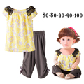 Free Shipping 5sets/lot 2-4yrs Baby Girl's Summer Outfits on Sale