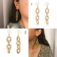 Geometric Earrings Fashion Bohemian Exaggeration Retro Gifts For Women Jewelry Long Boho Style Large Earring