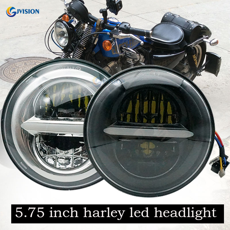 Harley led Daymaker headlights 5.75 inch Hi/Lo Beam projector Headlight for Harley Dyna Sportster 1200 48 883 Trun signal Lights boxpop lb 138 35