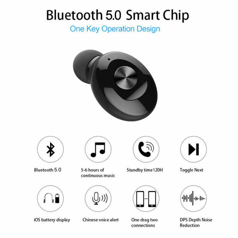 Mini Auriculares Bluetooth 5.0 Stereo bezprzewodowy Earbus dźwięku HIFI słuchawki sportowe zestaw głośnomówiący do gier zestaw słuchawkowy z mikrofonem do telefonu
