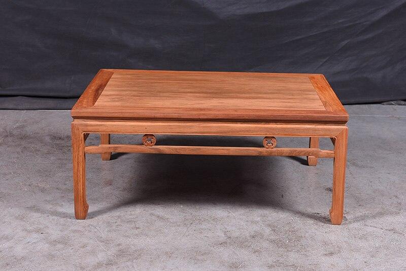 1+ 3 сиденья 6 шт. тройной набор стульев китай Королевский палисандр мебель гостиная твердой древесины диван-кровать костюм красный из сандалового дерева чайная столик - Цвет: Big Tea Table