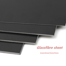 Черное стекловолокно шаблон доска лист эпоксидное стекловолокно G10 FR4 стекловолокно пластина для DIY ручка для ножей ремесло принадлежности 300x170 мм