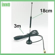 20 stks/partij 4G LTE Antenne SMA Mannelijke 10dbi 3g 4g lte Antenne 698 960/1700 2700 mhz met magnetische voet RG174 3M Kabel Sucker Antenne