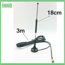 20pcs/lot 4G LTE Antenna SMA Male 10dbi 3g 4g lte Aerial 698-960/1700-2700Mhz with magnetic base RG174 3M Cable Sucker