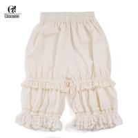 ROLECOS Lace Lolita Shorts Women Bloomers Sweet Pumpkin Shorts Cotton Safety Shorts Lolita Costume 3 Colors Underskirt