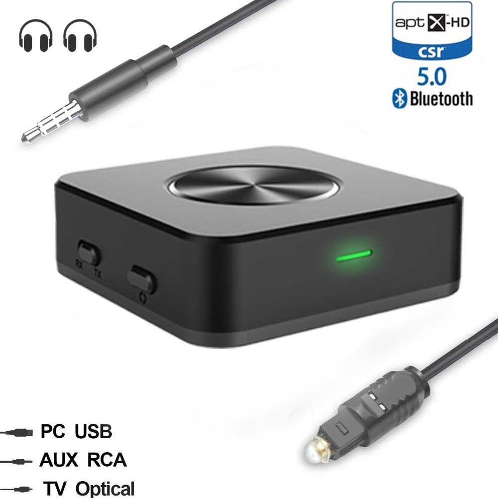 Unterhaltungselektronik Bluetooth 5,0 Aptx Hd Niedrigen Latenz Musik Sender Empfänger Wireless A2dp Optische Spdif Rca Aux 3,5mm Stereo Audio Tv Adapter Attraktives Aussehen Tragbares Audio & Video