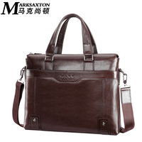 MARK SAXTON Guarantee Genuine Leather Bag Fashion Casual Men Leather Handbags 14 Inch Laptop Bag New