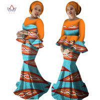 2017 Autumn Skirt Set African Designed Traditional Print Clothing Plus Size Skirt Set Evening Dress With