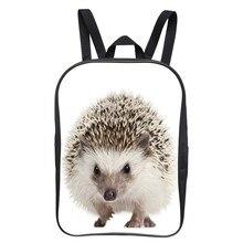 New Popular 12 Inch Cool Printing Hedgehog Animal Baby Boys Backpack Children Girls School Bags Kids Bookbag For Student Bag 007