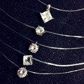 Bovvsky white Transparent Invisible Line Super Shinning Zircon Choker Necklace Women  Crystal Zircon CZ Necklace & Pendants