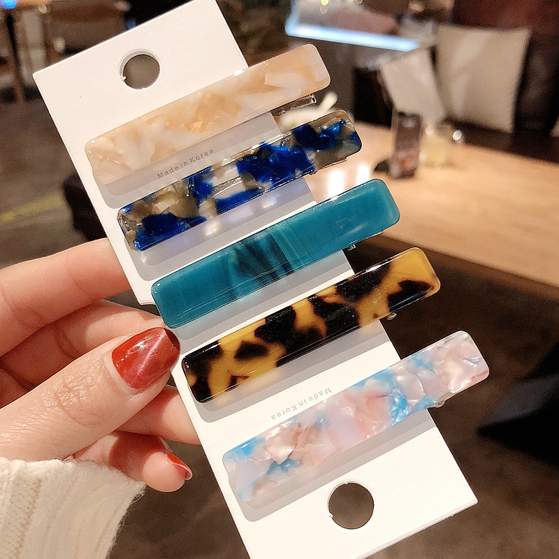 New Stye Resin Acetate Hair Clips For Women Barrettes Hairclip Sweet Daily Girls Heaswear Fashion Accessories