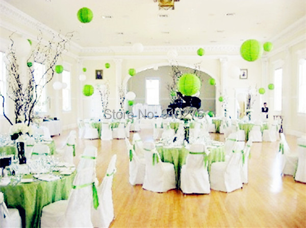 24 Pcs Lot 12 Lime Green Chinese Paper Lanterns Baby Shower Wedding
