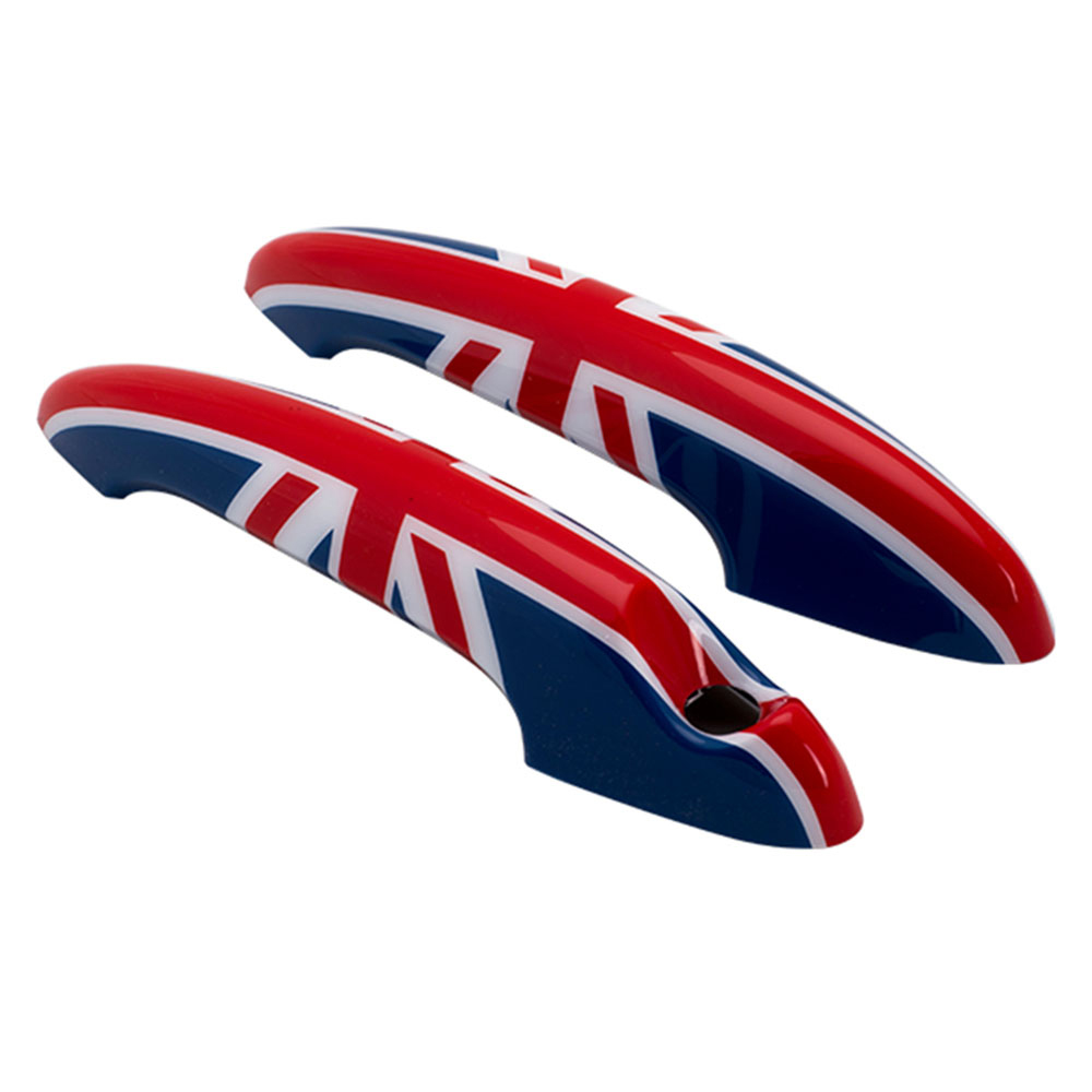 2Pcs Union Jack Car Door Handle Cover Stickers Decals For Mini Cooper JCW  R55 R56 R57 R58 R59 R60 R61 Car Styling Accessories