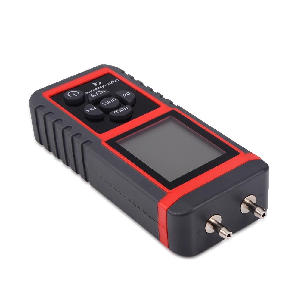 Manomètre professionnel poignée différentielle manomètre mesure de pression de gaz capteur de pression numérique Instrument 12 unités - 5