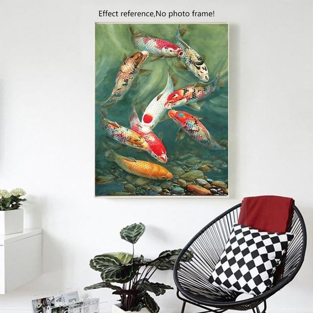 Huacan Diy Diamond Painting Fish Picture Of Rhinestones Mosaic Paintings Full Square Diamond Embroidery Animal