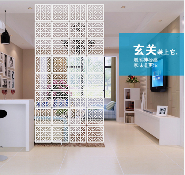 Wood Room Divider Fashion Hanging Screen partition bedroom wall
