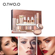 O.TWO.O 11 pieces / set of makeup gift box matte lipstick lip gloss mascara eye shadow full  LS06