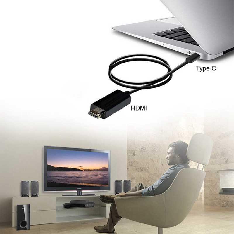 タイプ C USB-C hdmi ケーブル 6FT USB 3.1 (サンダーボルト 3 互換) タブレット