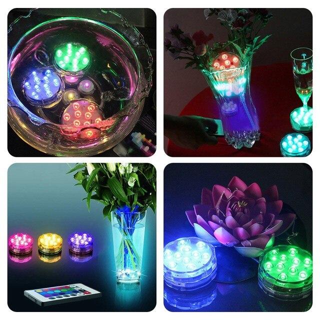 Mini UFO Underwater LED Aquarium Submersible Light RGB Remote Control  2