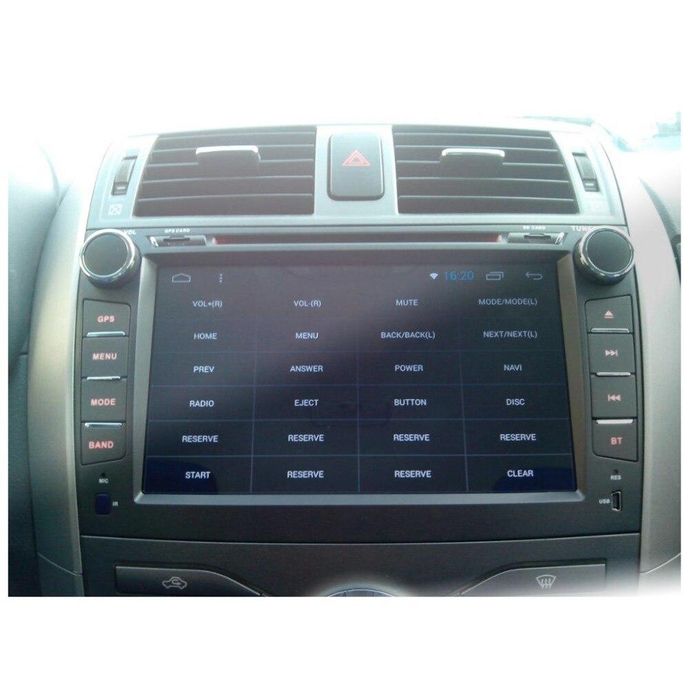 Android 8.01 lecteur dvd de voiture Pour Toyota corolla 2007 2008 2009 2010 2011 en dash 2 din 1024*600 voiture radio gps vidéo tête unité