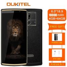 Oukitel K7 18:9 полный Дисплей 6,0 »fhd 4 Гб оперативной памяти, 64 Гб встроенной памяти, Mt6750t Octa Core 13mp + 5mp 10000 mаh 9В/2a мобильный телефон с определением отпечатка пальца