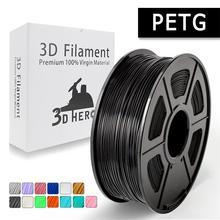 Новый 3d нити PETG принтер нити 1,75 мм 1 кг/2.2LB катушка для подарок на день рождения рукоделие Принт быстрая доставка