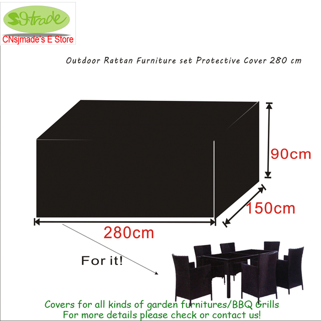 Outdoor Rattan Furniture set Protective Cover 280x150x90cm,waterproofed/ dust proofed cover,Chair cover