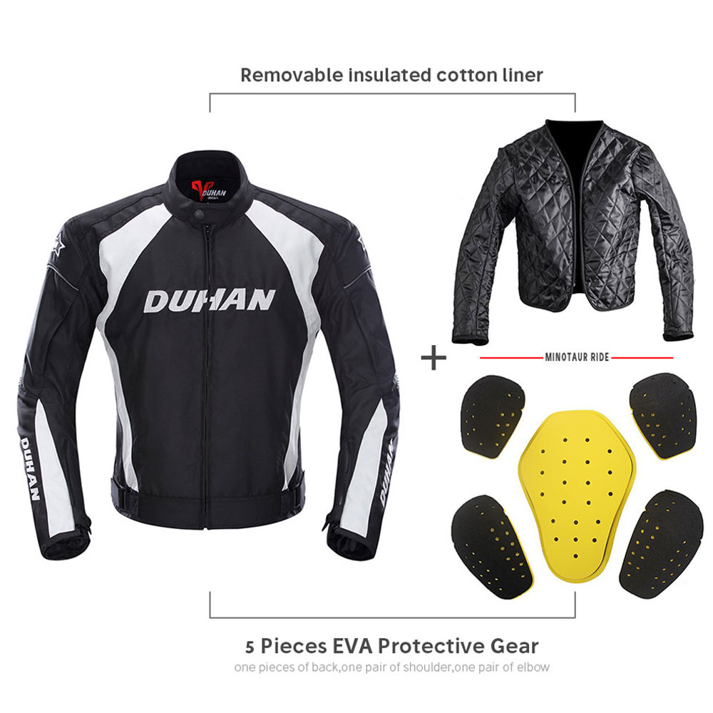 Image 3 - DUHAN Motorcycle Jacket Men Motocross Suits Jacket & Pants Moto Jacket Protective Gear Armor Motorcycle Clothing Riding Jackets-in Jackets from Automobiles & Motorcycles