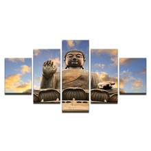 5Piece Canvas Art Printing Buddha series Painting Custom Print On Wall Pictures Home Decoration/11Y-ZT-5