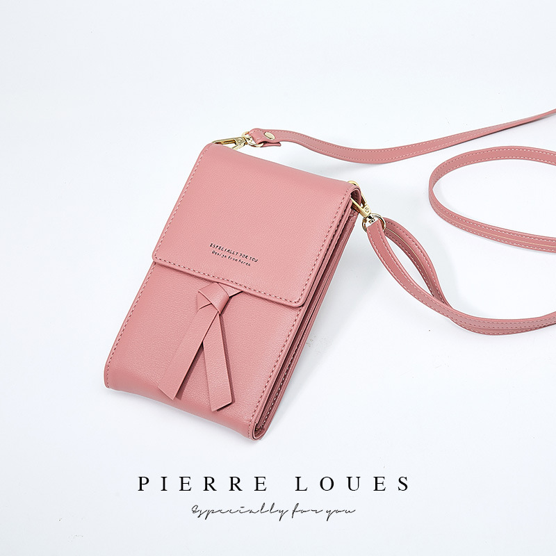 Women New Fashion Phone Bags Small Change Coin Purse Female PU Leather Shoulder Bag Messenger Bag For Phone Card Wallet
