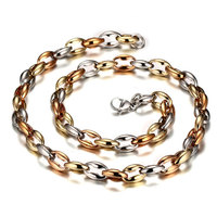 8mm 316L Stainless Steel Men Chunky Chain Necklace Hippie Biker Rock Gold Link Chain Hip Hop Jewelry