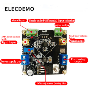 Image 5 - AD623 モジュール計装アンプ電圧アンプモジュール調整可能な単一電源シングルエンド/差動小信号