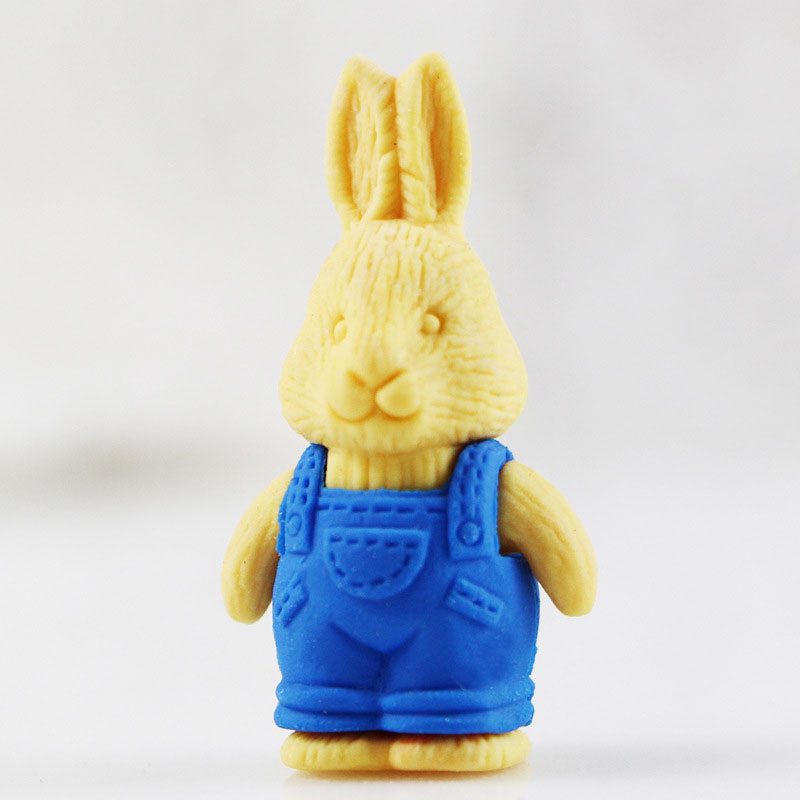 1X Cartoon assemble eraser mini Bunny modelling eraser children stationery gift prizes kawaii school office supplies papelaria in Eraser from Office School Supplies