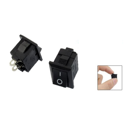 Promotion! 10 Pcs SPST Mini Black 2 Pin Rocker Switch AC 125V 10A 250V 6A 20pcs lot mini boat rocker switch spst snap in ac 250v 3a 125v 6a 2 pin on off 10 15mm free shipping