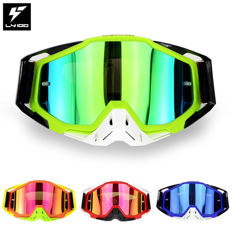 Image 2 - LY 100 Brand Motocross Goggles ATV Casque Motorcycle Glasses Racing Moto Bike Cycling CS Gafas Sunglasses Original Package-in Motorcycle Glasses from Automobiles & Motorcycles