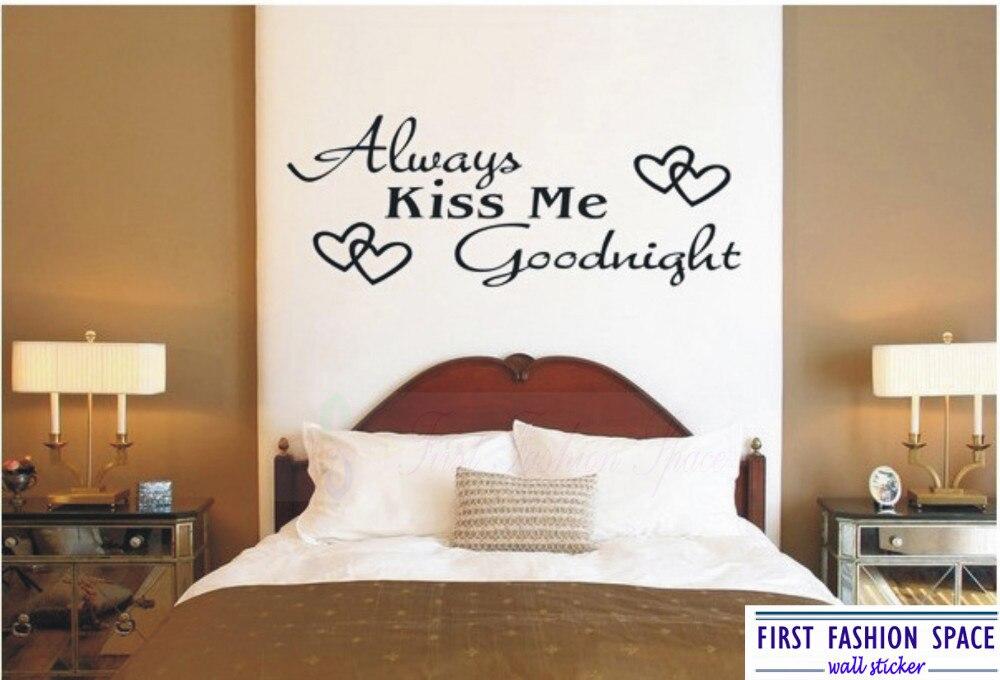 removable always kiss me goodnight wall sticker quotes vinyl decor rh aliexpress com